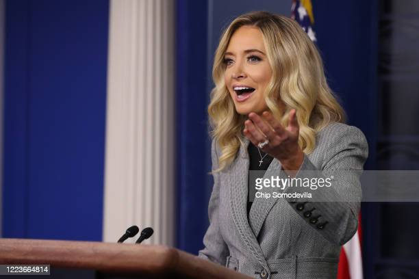 White House Press Secretary Kayleigh McEnany talks about the Trump Administration's ongoing response to the novel coronavirus pandemic during a news...