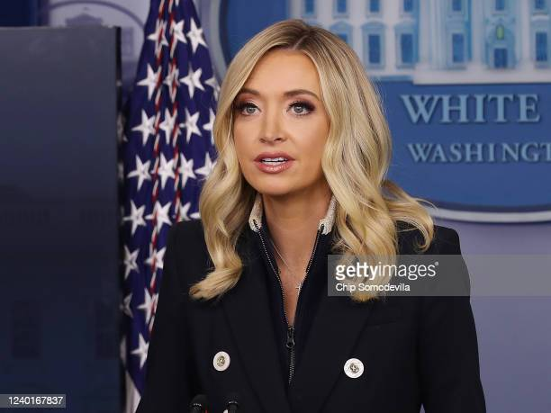 White House Press Secretary Kayleigh McEnany talks to reporters during a news conference in the Brady Press Briefing Room at the White House June 1,...