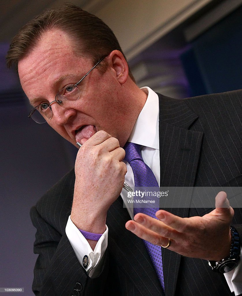 White House Press Secretary Robert Gibbs answers questions at the White House during the daily briefing July 26, 2010 in Washington, DC. Gibbs responded to the leak of tens of thousands of documents relating to the U.S. war in Afghanistan by the organization Wikileaks during the briefing.