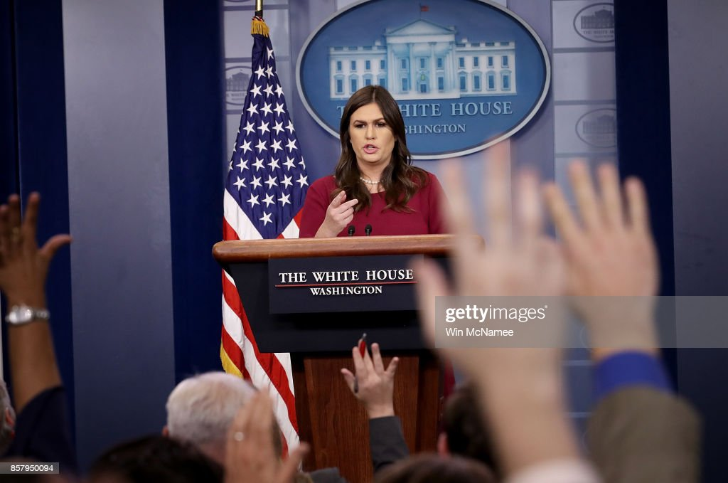 Press Secretary Sarah Sanders Holds Daily White House Press Briefing