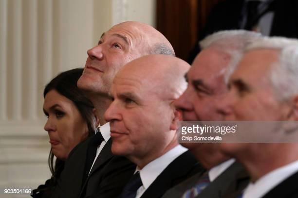 White House Press Secretary Sarah Huckabee Sanders National Economic Council Director Gary Cohn National Security Advisor HR McMaster Secretary of...