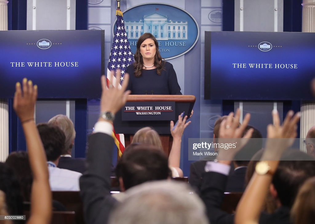White House Press Secretary Sarah Huckabee Sanders Holds White Daily Press Briefing
