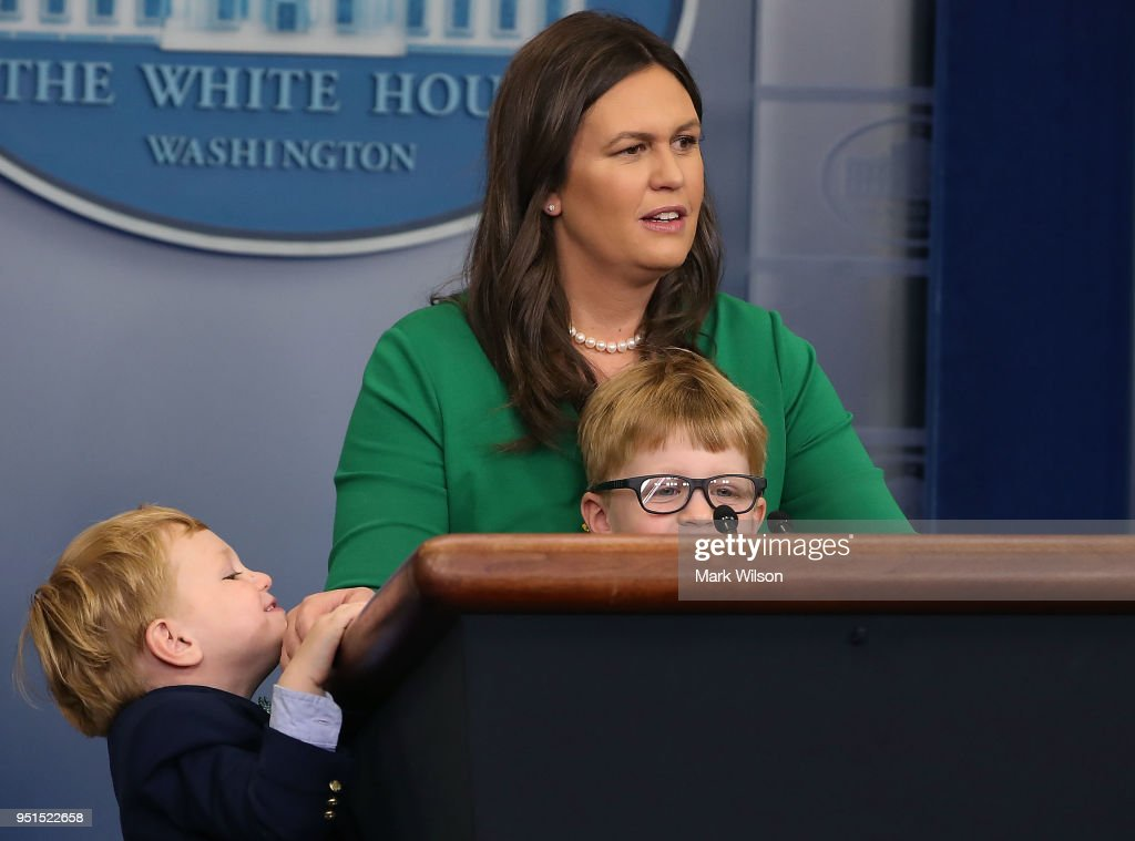 White House Press Secretary Sarah Sanders Takes Questions From Children In The Briefing On Bring Your Child To Work Day At The White House