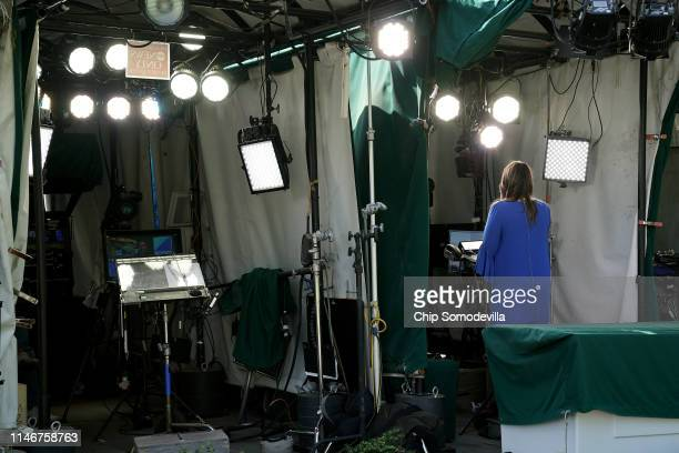 White House Press Secretary Sarah Huckabee Sanders talks to FOX News outside the White House May 03 2019 in Washington DC Later Sanders reacted to...
