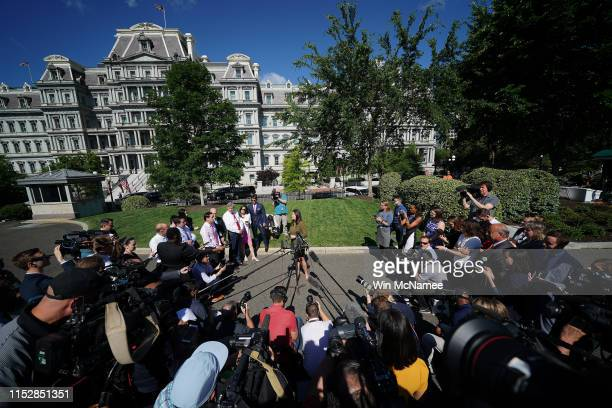 White House press secretary Sarah Sanders answers questions at the White House May 31 2019 in Washington DC Sanders responded primarily to questions...