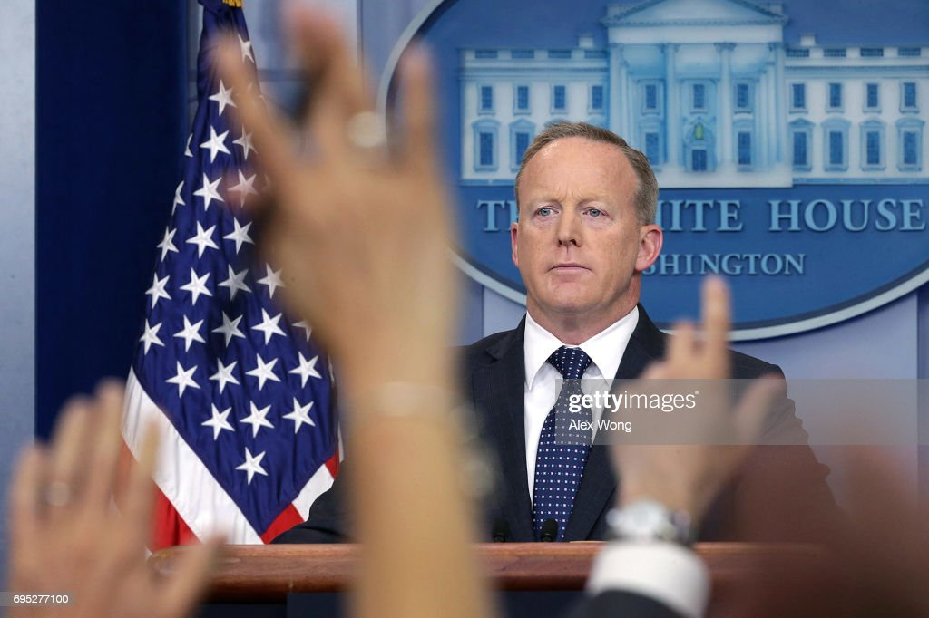Labor Secretary Acosta Joins Sean Spicer For Daily Press Briefing At The White House