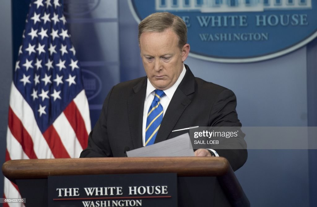White House Press Secretary Sean Spicer holds a daily press briefing in the Brady Press Briefing Room at the White House in Washington, DC, May 15, 2017. /