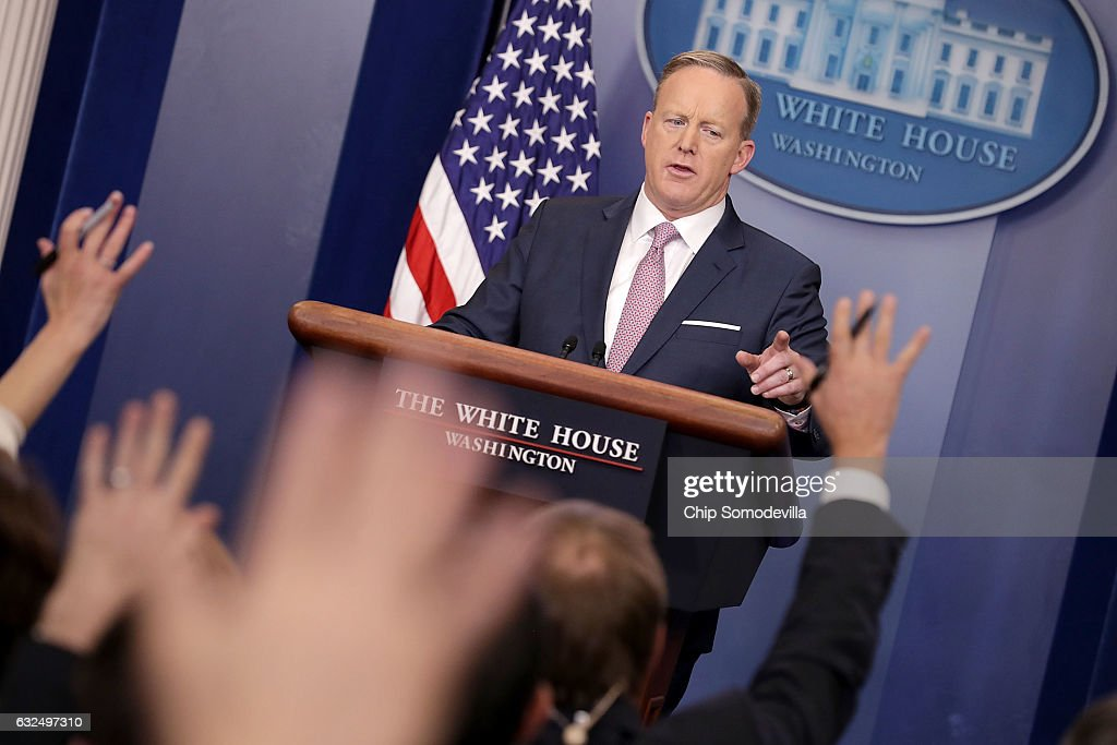 Sean Spicer Holds Daily Press Briefing At The White House : ニュース写真
