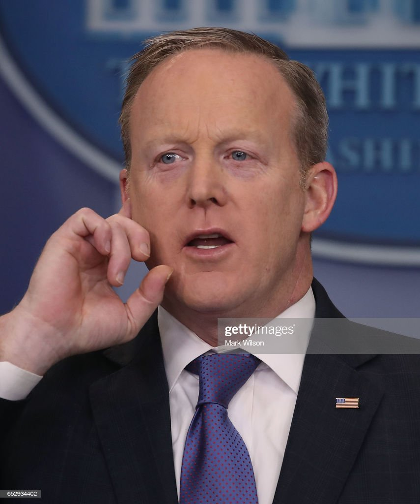White House Press Secretary Sean Spicer speaks to the media during his daily briefing at the White House, on March 13, 2017 in Washington, DC.