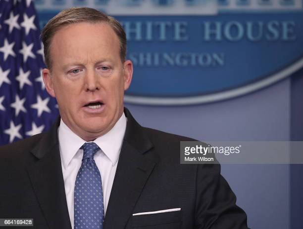 White House Press Secretary Sean Spicer speaks to the media during his daily briefing at the White House on March 3 2017 in Washington DC