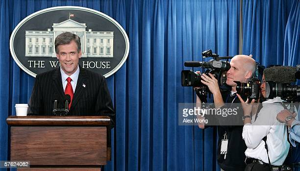 White House Press Secretary Tony Snow briefs the media at the White House May 16, 2006 in Washington, DC. Snow gave his first briefing to the media...