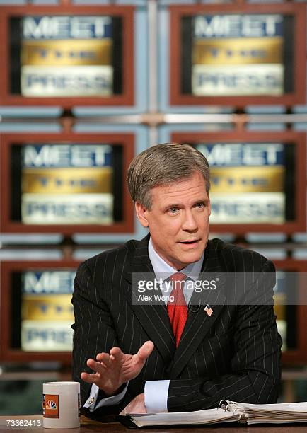White House Press Secretary Tony Snow speaks during a taping of Meet the Press at the NBC studios February 18, 2007 in Washington, DC. Snow defended...