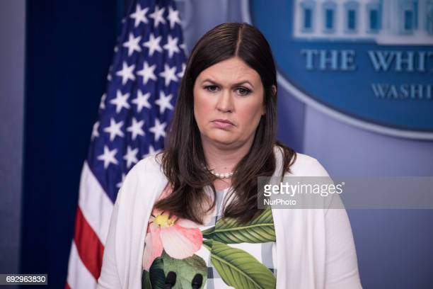 White House Principal Deputy Press Secretary Sarah Huckabee Sanders delivered the press briefing in the James S Brady Press Briefing Room of the...