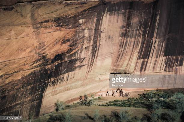 white house ruins in canyon de chelly - canyon de chelly national monument stock pictures, royalty-free photos & images