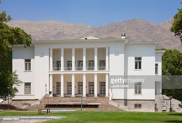 white house, sa'dabad palace, tehran, iran - tehran stock pictures, royalty-free photos & images