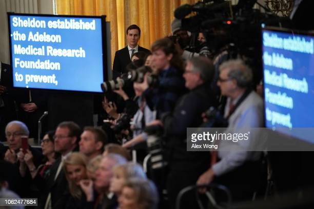 White House senior adviser Jared Kushner listens during a presentation ceremony of the Presidential Medal of Freedom at the East Room of the White...