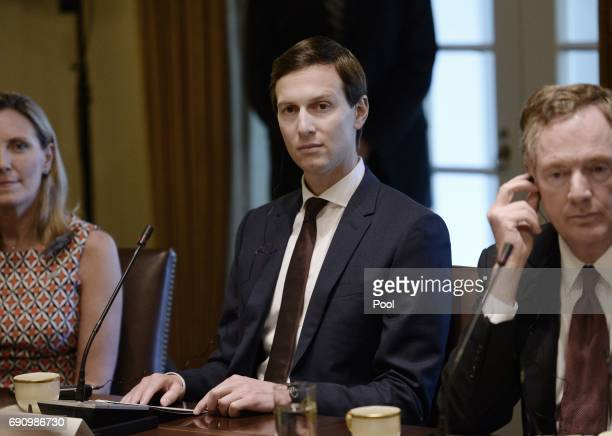 White House senior adviser Jared Kushner looks on during a meeting between President Donald Trump and Prime Minister Nguyen Xuan Phuc of Vietnam in...