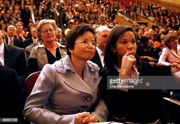 White House Senior Advisor and Assistant to the President for Intergovernmental Relations and Public Liaison Valerie Jarrett and her daughter Laura...