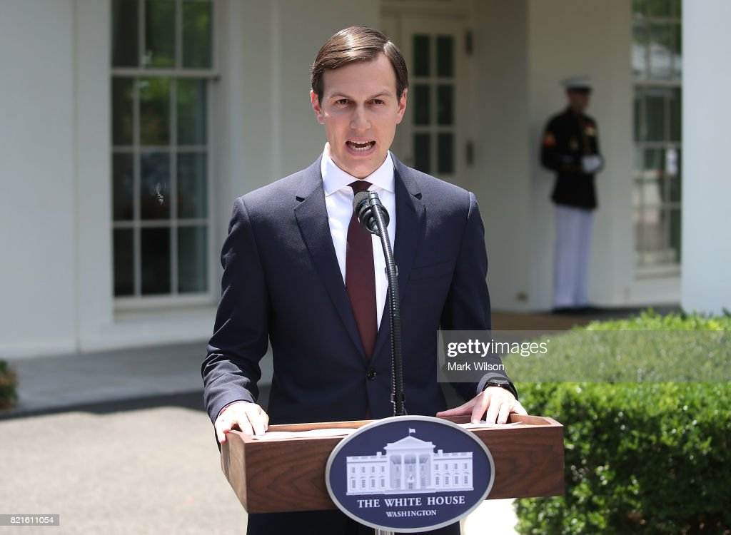 Jared Kushner Makes A Statement To The Media At The White House