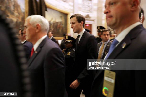 White House Senior Advisor and soninlaw to the president Jared Kushner walks through the US Capitol Rotunda while negotiating with lawmakers 21 2018...