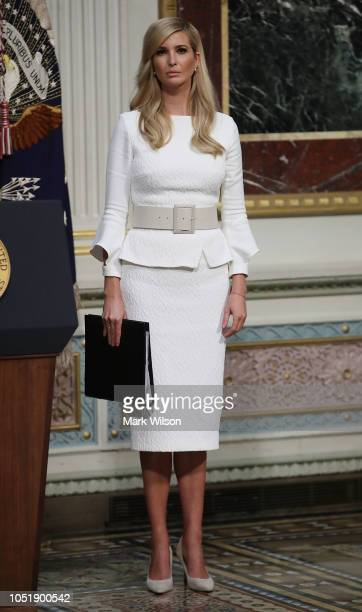White House Senior Advisor Ivanka Trump attends the annual meeting of President's Interagency Task Force to Monitor and Combat Trafficking in Persons...
