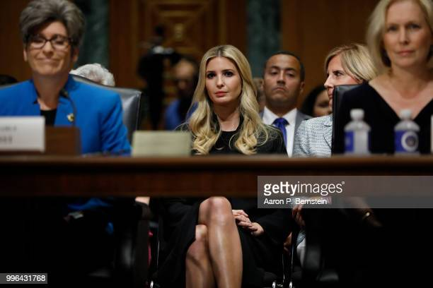 White House Senior Advisor Ivanka Trump looks on during a Commerce Committee hearing on paid family leave July 11 2018 on Capitol Hill in Washington...