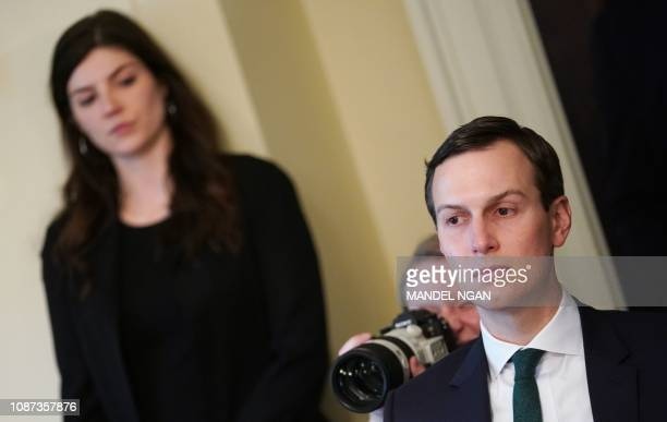 White House Senior Advisor Jared Kushner is seen during a meeting on immigration in the Cabinet Room of the White House in Washington DC on January...