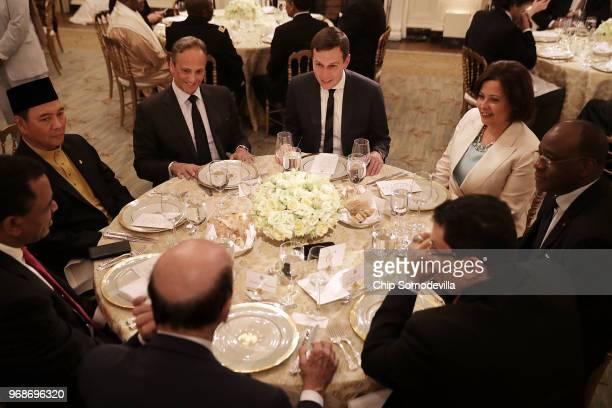 White House Senior Advisor to the President Jared Kushner joins Kuwaiti Ambassador to the United States Salem Abdullah AlJaber AlSabah Libyian...