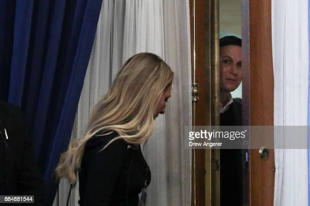 White House Senior Advisor to the President Jared Kushner waits backstage before a conversation with Haim Saban at the Saban Forum December 3 2017 in...