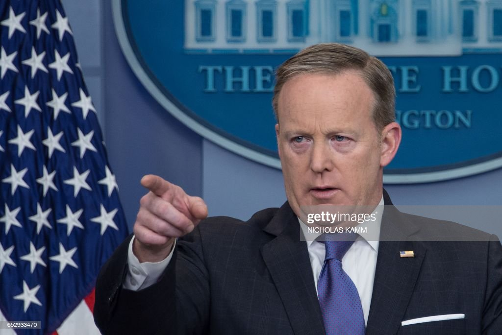 White House spokesman Sean Spicer speaks during the daily press briefing at the White House in Washington, DC, on March 13, 2017. /