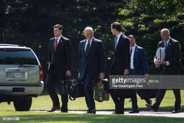 White House Staff Secretary Rob Porter White House Chief of Staff John Kelly White House adviser Jared Kushner White House doctor Ronny Jackson and...
