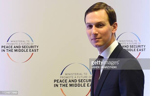 White House US Senior Advisor Jared Kushner attends the conference on Peace and Security in the Middle East in Warsaw on February 14 2019