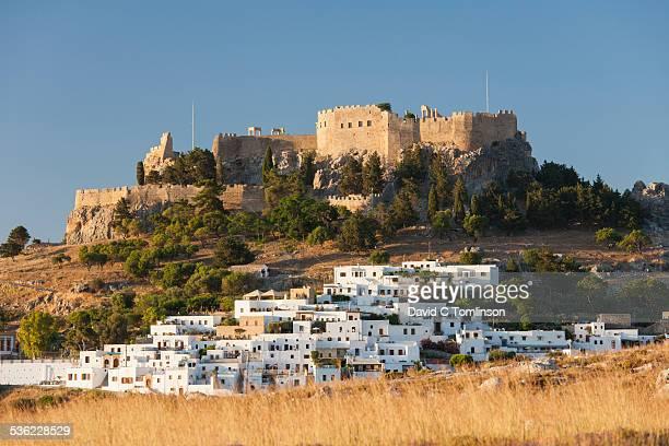 White houses below the acropolis, Lindos, Rhodes