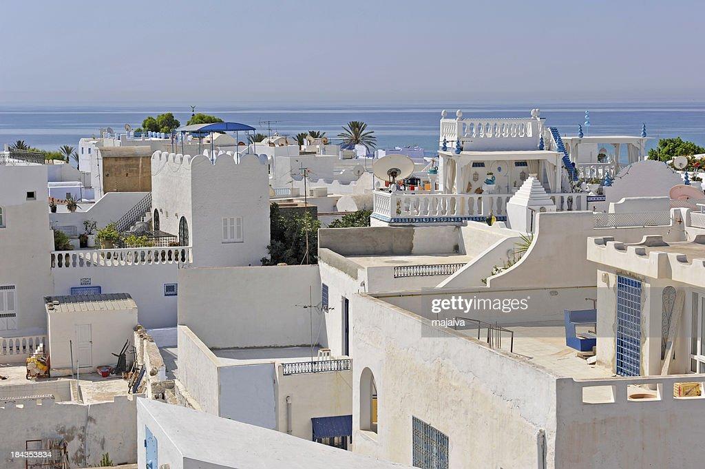 White houses in Hammamet : Stock Photo