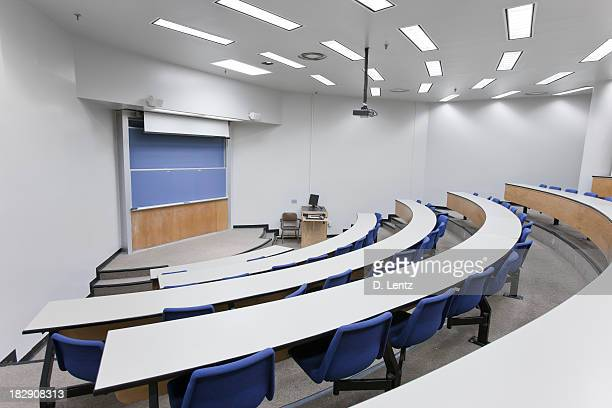 White interior of a lecture hall