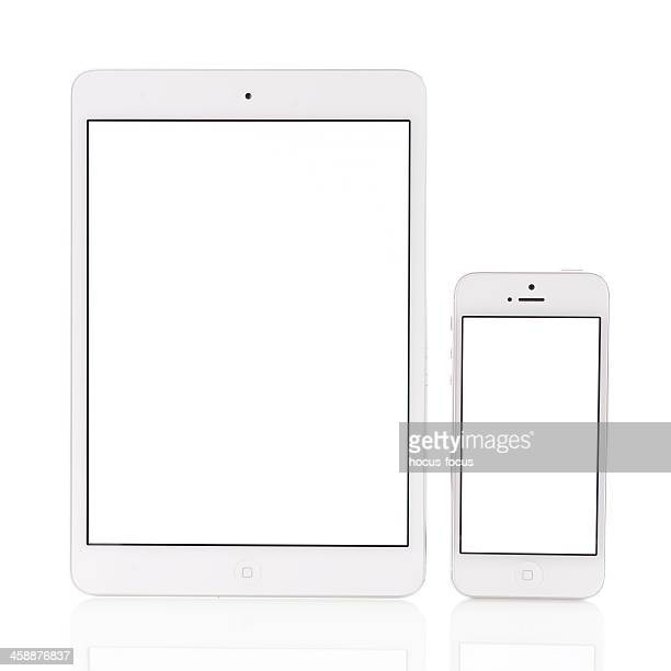 White iPad Mini and iPhone 5