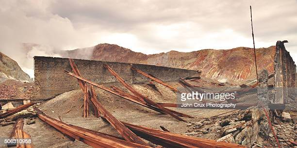 white island factory - white island stock photos and pictures