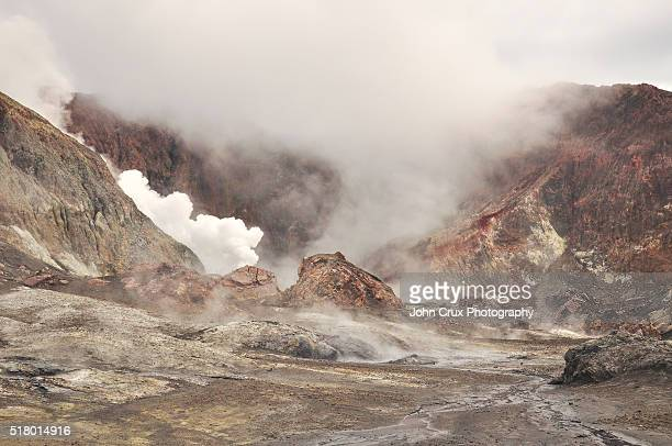 white island geothermal island - white island new zealand stock photos and pictures