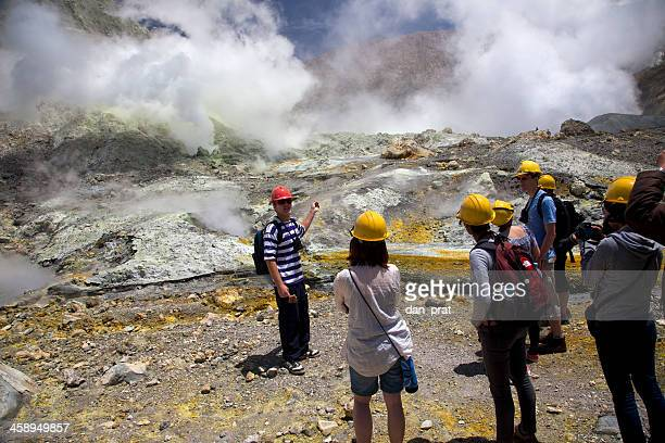 white island, new zealand - white island stock photos and pictures
