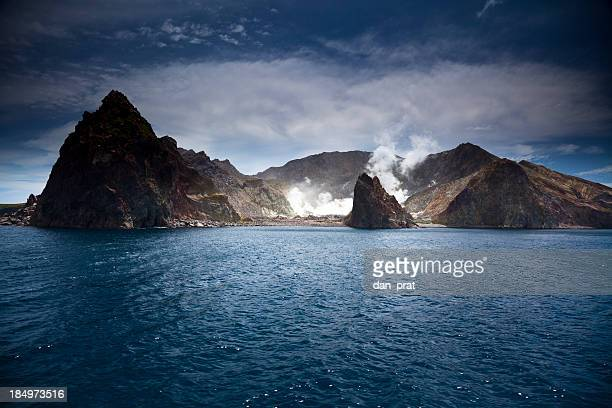 white island - new zealand volcano stock photos and pictures