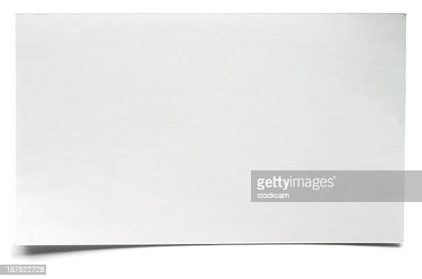 白の孤立した空の索引カード - インデックスカード ストックフォトと画像