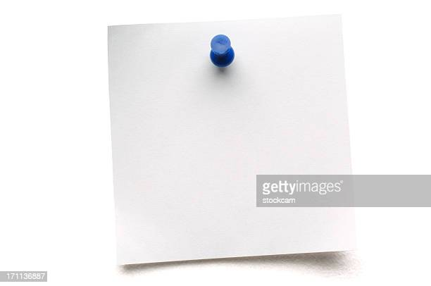 white isolated postit note - push pin stock pictures, royalty-free photos & images