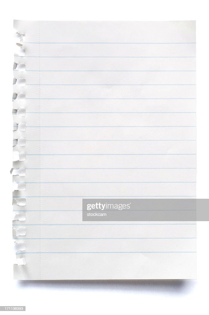 White Isolated Sheet Of Blank Lined Paper : Stock Photo  Blank Line Paper