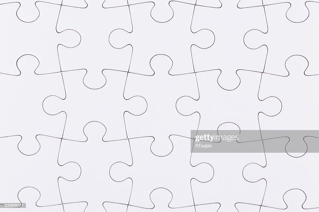 white jigsaw puzzle : Stock Photo