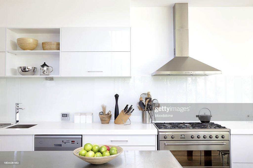 White kitchen : Stock Photo