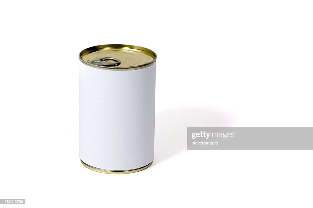 White etichetta può : Foto stock