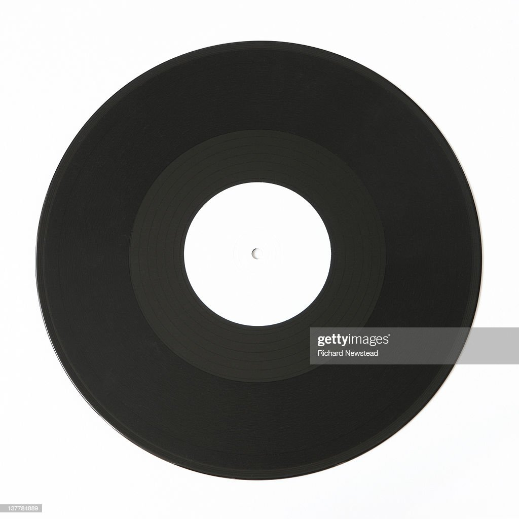 White Label Record Stock Photo