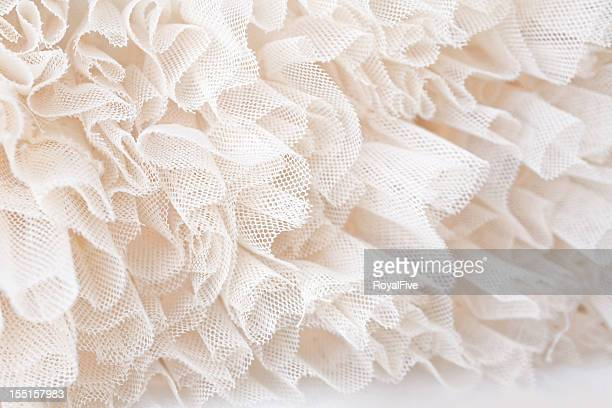 white lace - frilly stock photos and pictures