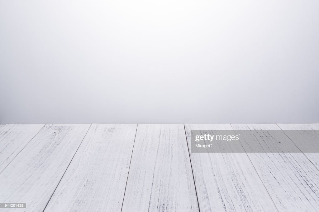 White Lacquered Wood Plank : Stock Photo
