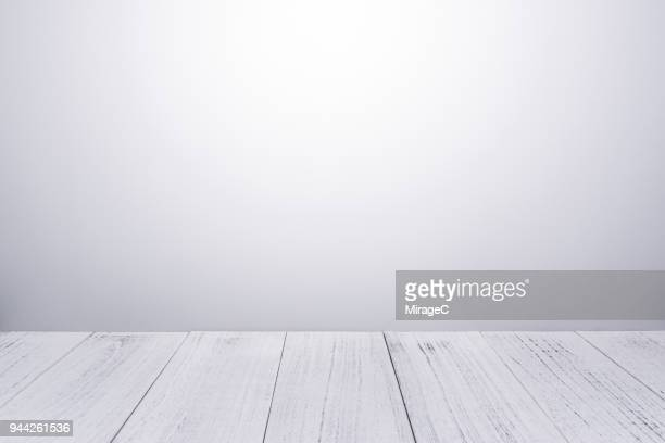 white lacquered wood plank - plank timber stock photos and pictures